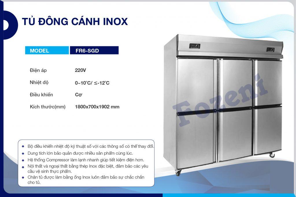 Tủ đông cánh inox FR6-SGD